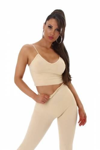Crop top Jada - beige