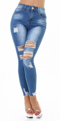 Destroyed Jeans Danae - blau