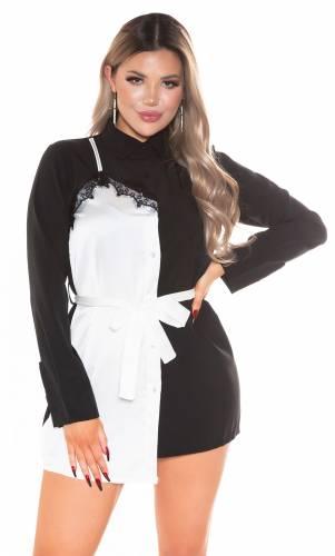 Robe-chemisier Caissa - noir