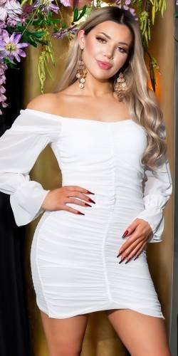 Carmen Minikleid Calea - weiss