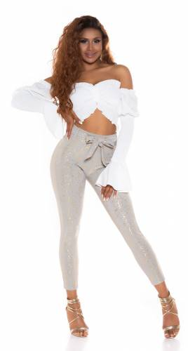 Pantalon High Waist  Calina - gris