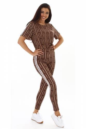Leggings & shirt Jaclyn - marron