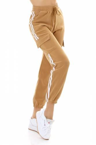 Pantalon de jogging cargo Lia - beige