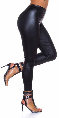 Wetlook Leggings Charel - schwarz