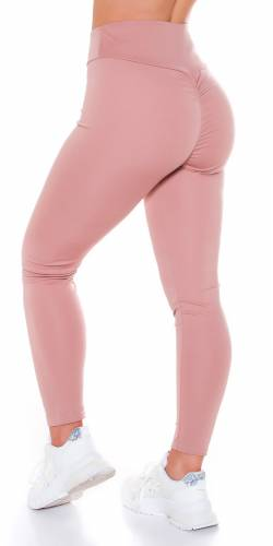 Leggings Push-Up - vieux rose