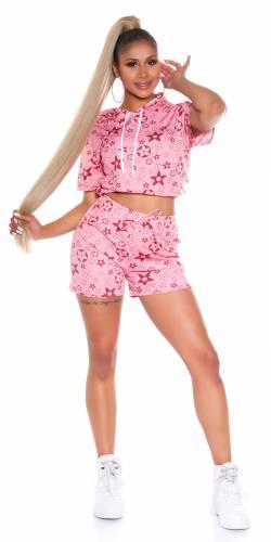 Shorts & Shirt Caja - vieux rose