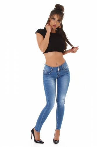 Push-Up Jeans Aida - blau