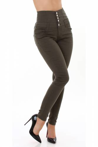 Corsage Jeans Aila - khaki