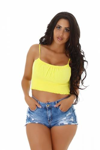 Crop Top Aina - jaune