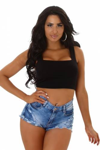 Crop Top Aaren - noir