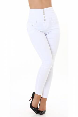 Corsage Jeans Aila - weiss