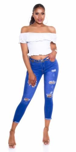 High Waist Jeans Calea - blau
