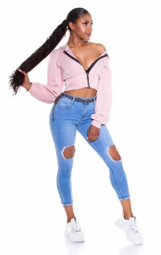 Cut-Outs Jeans  - hellblau