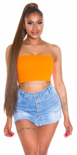 Top Bandeau Cher - orange