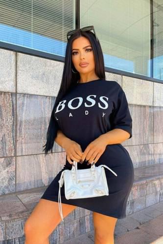 Shirt Kleid Boss - schwarz