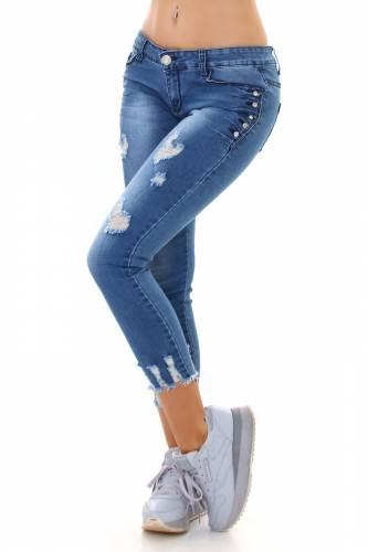 Skinny Jeans Eleen - bleu