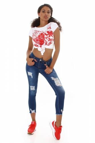 Push-up Jeans Elly - dunkelblau