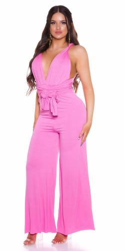 Neck Overall Delina - pink