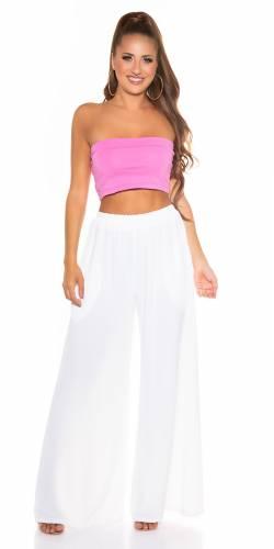 Pantalon Wide Leg - blanc