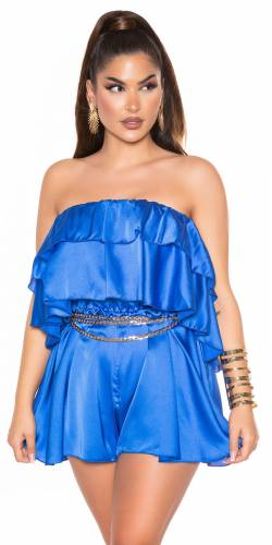 Satin Overall Elya - blau