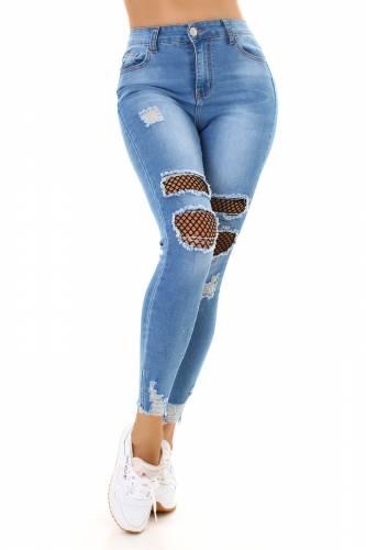 Skinny Jeans Eevi - bleu