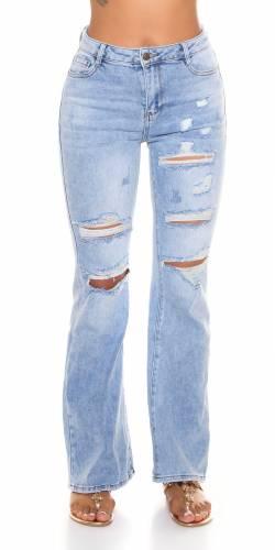 Jeans Flared Elnea - bleu