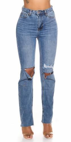 Straight Jeans Elona - bleu