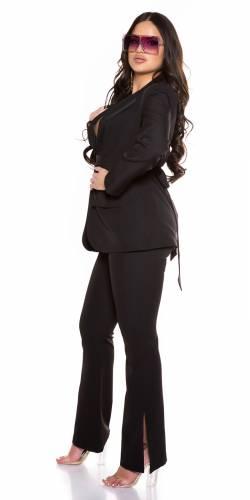 Pantalon bootcut Elora - noir