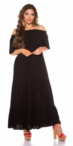 Robe maxi Enola - noir