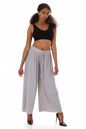 Pantalon plissé - gris