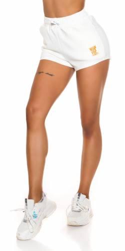 Shorts Flora - weiss