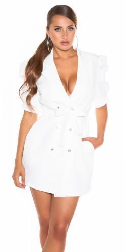 Robe blazer - blanc
