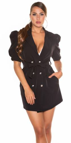 Blazer Kleid - schwarz