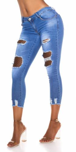 Skinny Jeans avec filet - bleu