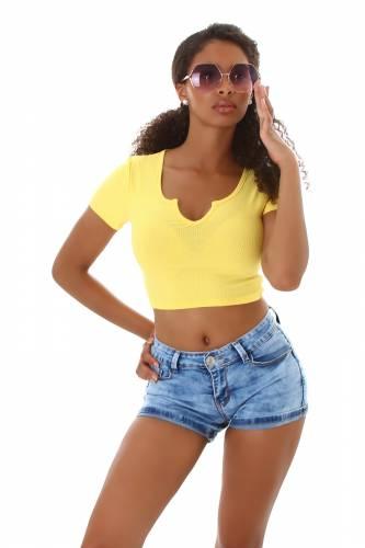 Crop shirt Ivy - jaune