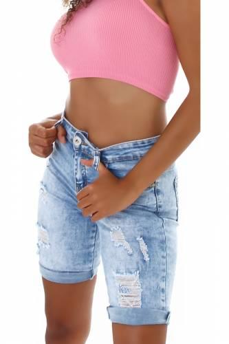 Short en jean Jadea - bleu clair