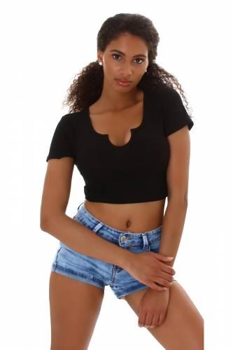 Crop shirt Ivy - noir