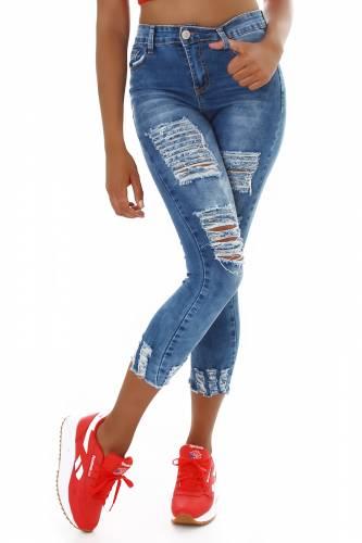 Jeans Destroyed Kona - blau
