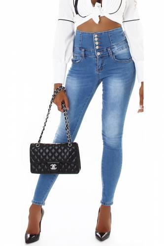 Jeans Corsage Kira - bleu