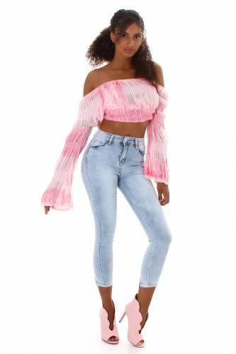 High Waist Jeans Klea - hellblau