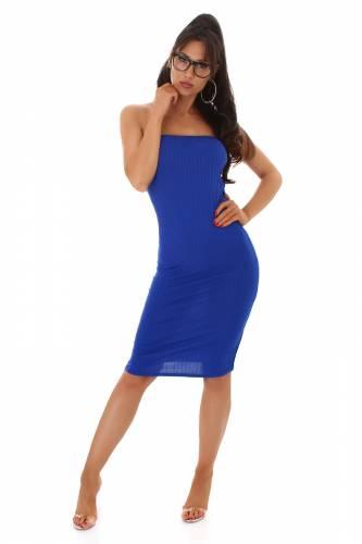 Bandeau Kleid Laila - blau