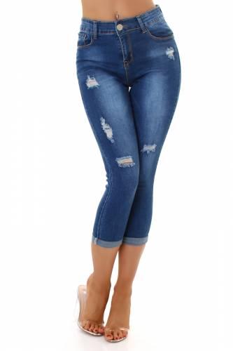 High Waist Jeans Laria - blau