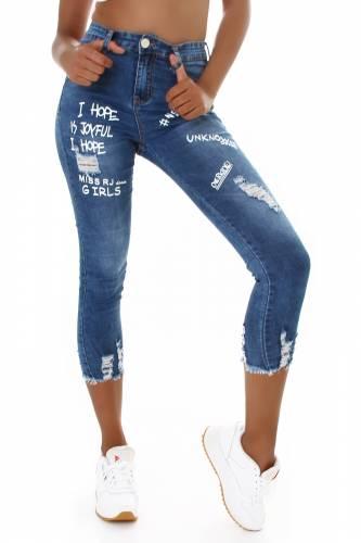 Skinny Jeans Laura - bleu