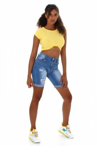Short en jean Lavea - bleu