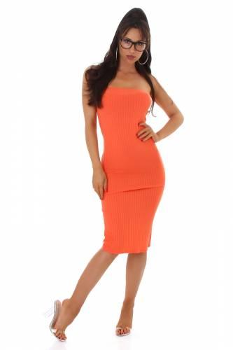 Bandeau Kleid Laila - orange