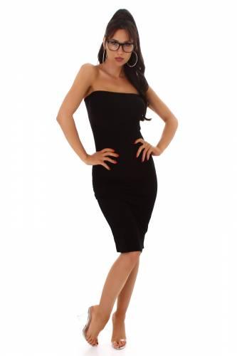 Bandeau Kleid Laila - schwarz
