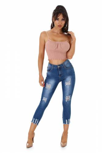Jeans Destroyed Lea - blau