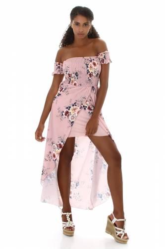 Robe maxi Liesel - rose