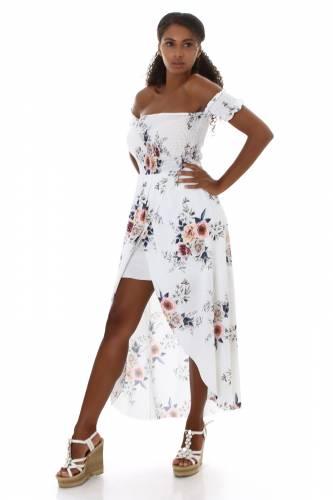 Robe maxi Liesel - blanc