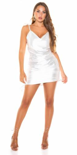 Mini robe en satin - blanc